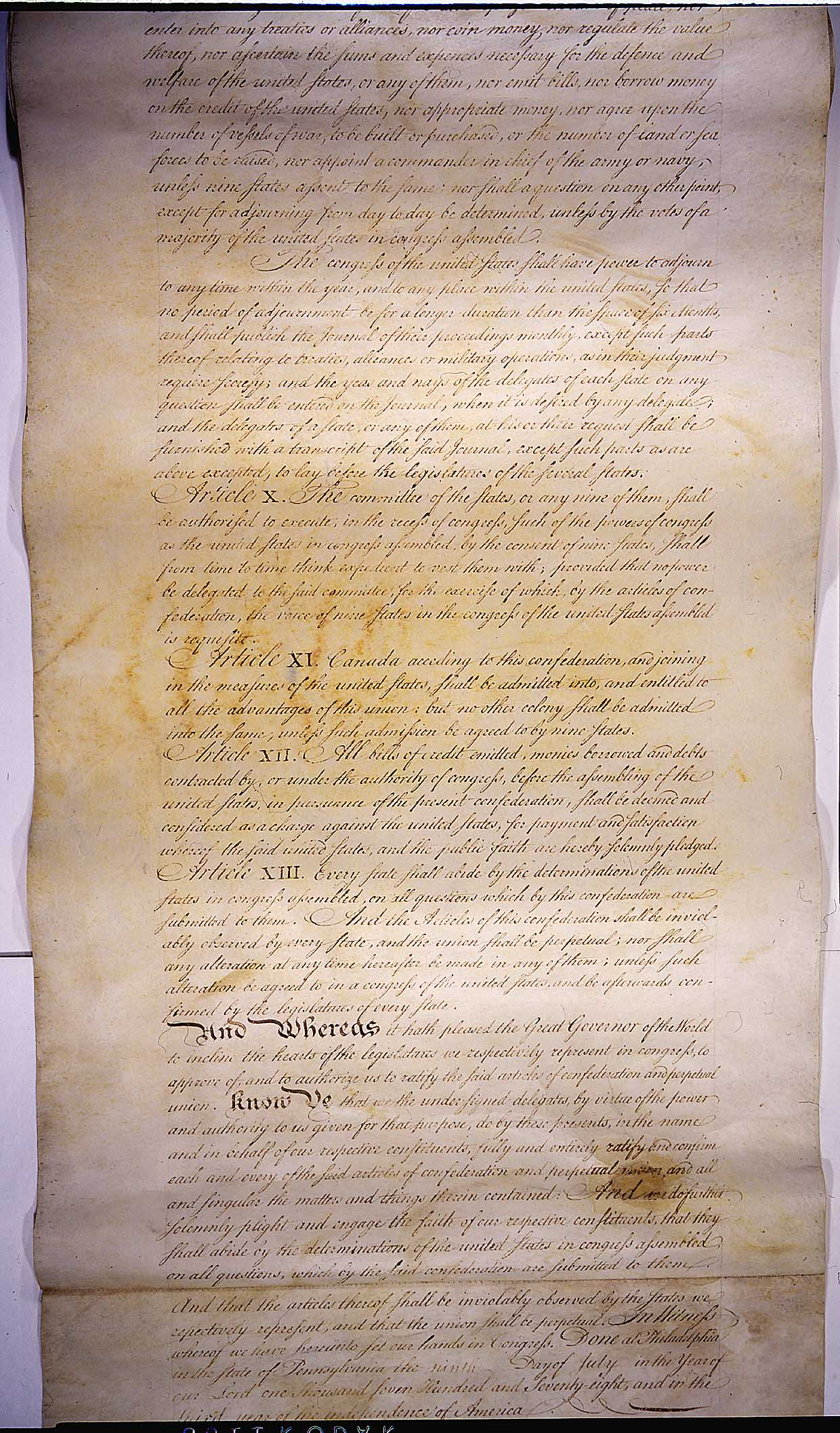 an overview of the articles of confederation in the united states of america Articles of confederation: articles of confederation, first us constitution (1781–89), which served as a bridge between the initial government by the continental.