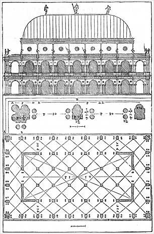 Basilica palladiana di vicenza 1546 incisione for Libri sull architettura
