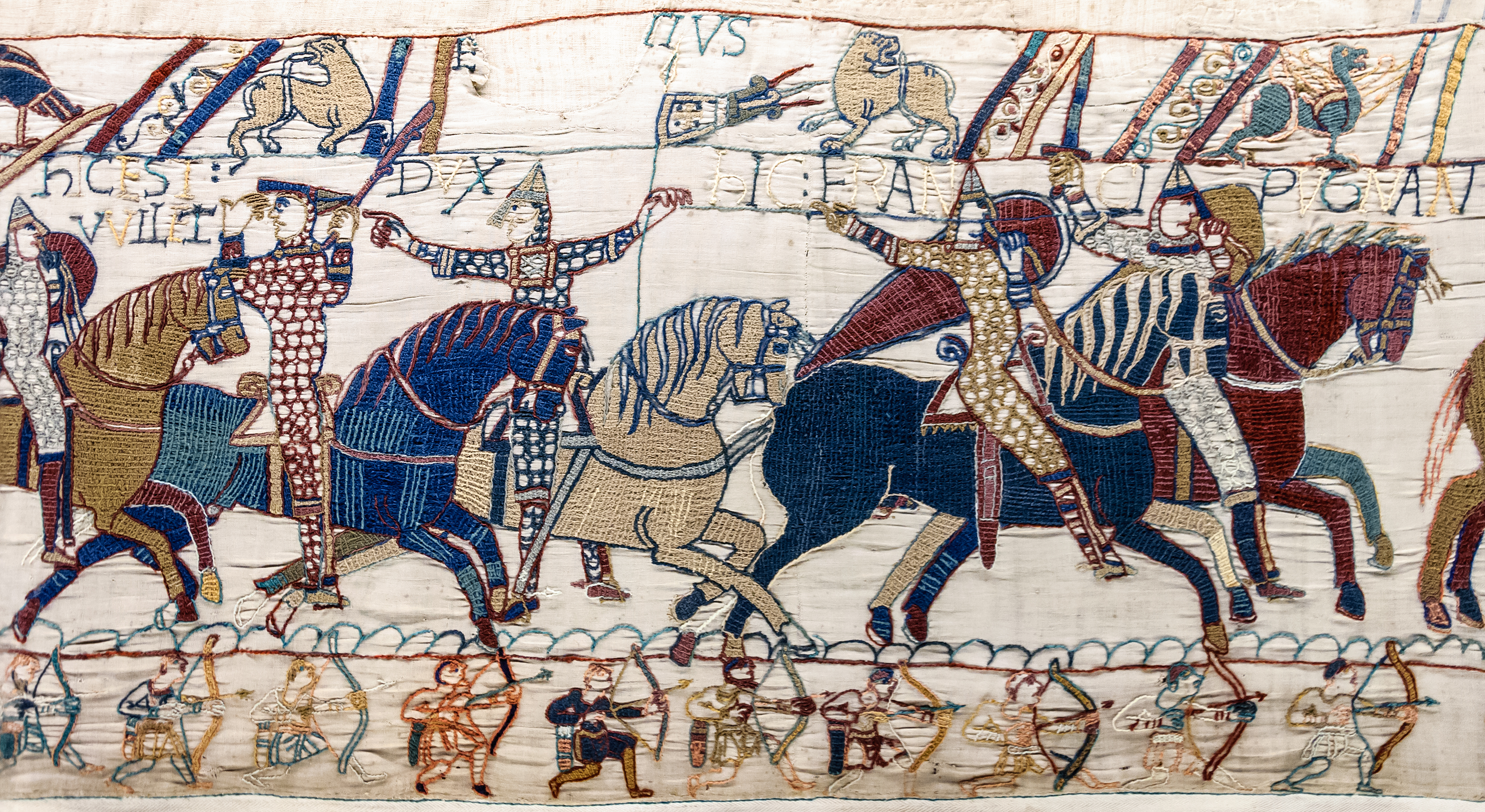 File bayeux tapestry scene55 william hastings wikimedia commons - Tapisserie de bayeux animee ...