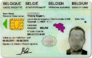 Belgian national identity card