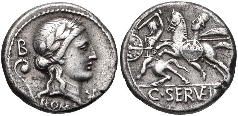 Nouveau(x) denier(s) de la gens Servilia C._Servilius_Vatia%2C_denarius%2C_82-80_BC%2C_RRC_370-1b