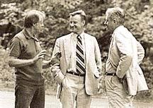 Carter, Brzezinski and Vance at Camp David, 1977