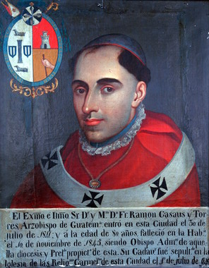 Retrato oficial del arzobispo Casaus y Torres. Imagen tomada de Wikimedia Commons.