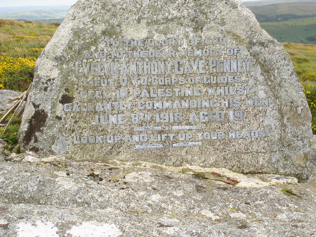 File:Cave-Penny Cross near Corndon Tor (detail) - geograph.org.uk - 1426182.jpg