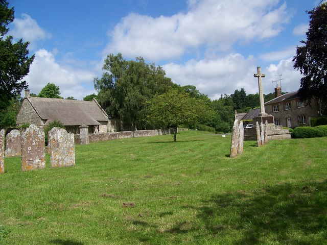 Churchyard, The Church of St Mary, Dinton - geograph.org.uk - 865225