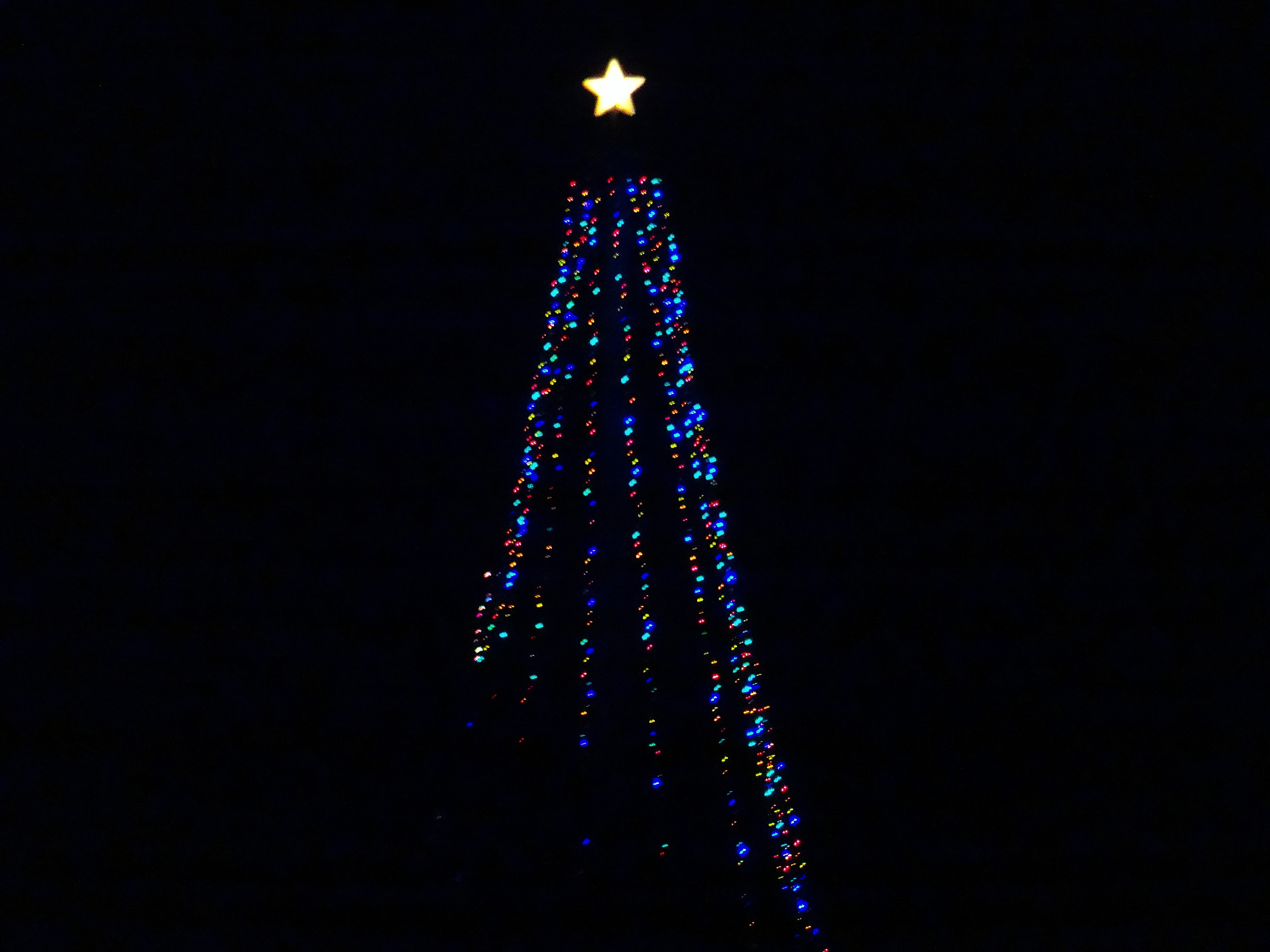 filecross plains hilltop christmas tree lit with led lights panoramiojpg - Hilltop Christmas