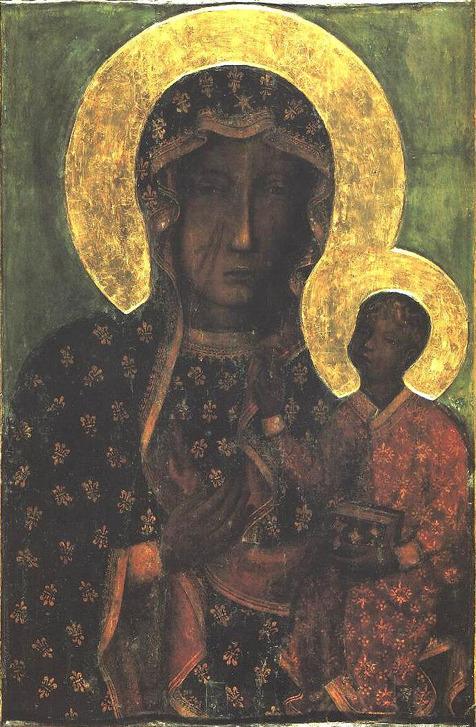 Schwarze Madonna von Jasna Gora, Czestochowa, Polen - Quelle: Wikipedia
