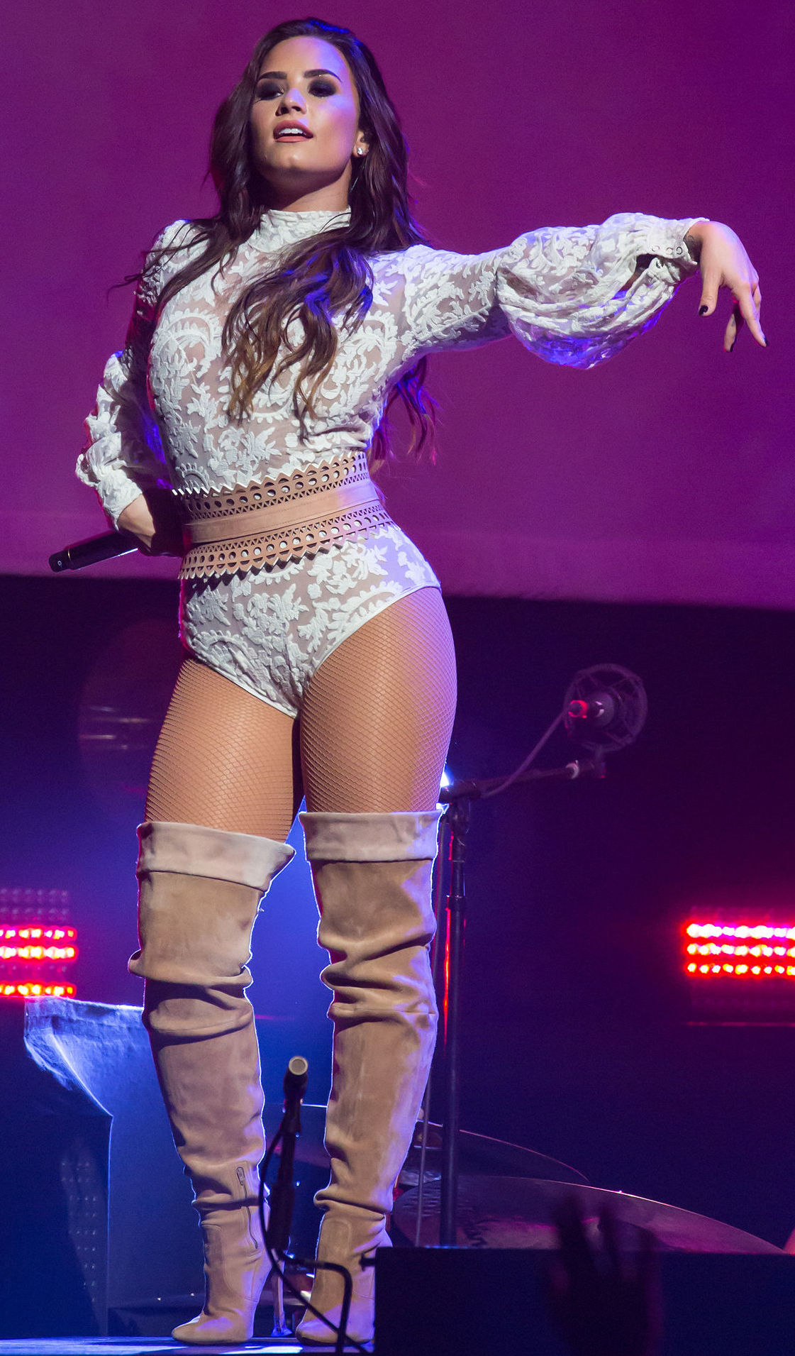 Watch Demi Lovato Gets Her Ass Felt Up On Stage video