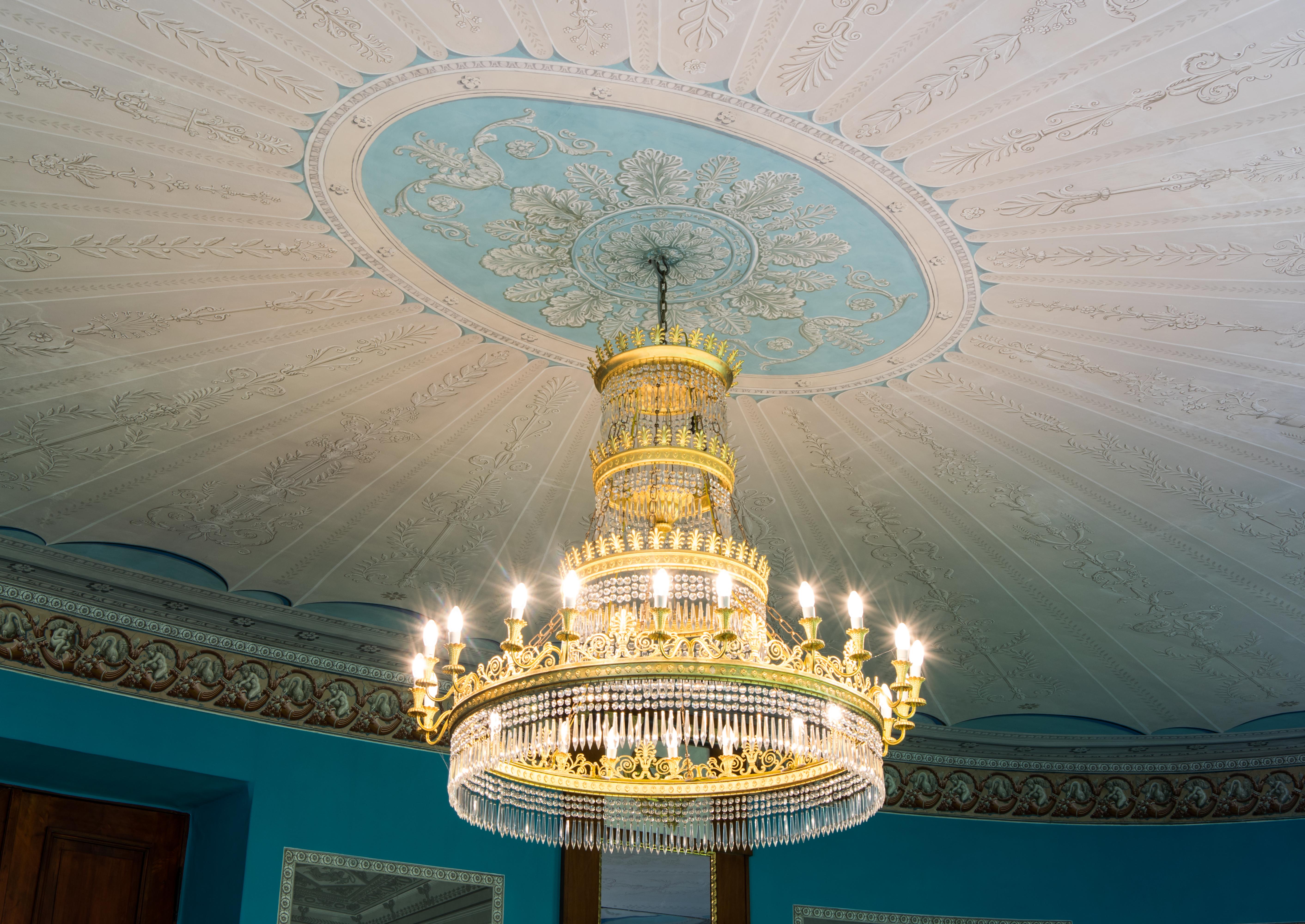 Kronleuchter Für Saal ~ File doberan großes palais ovaler saal kronleuchter und decke