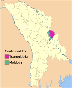 Location of Dubăsari