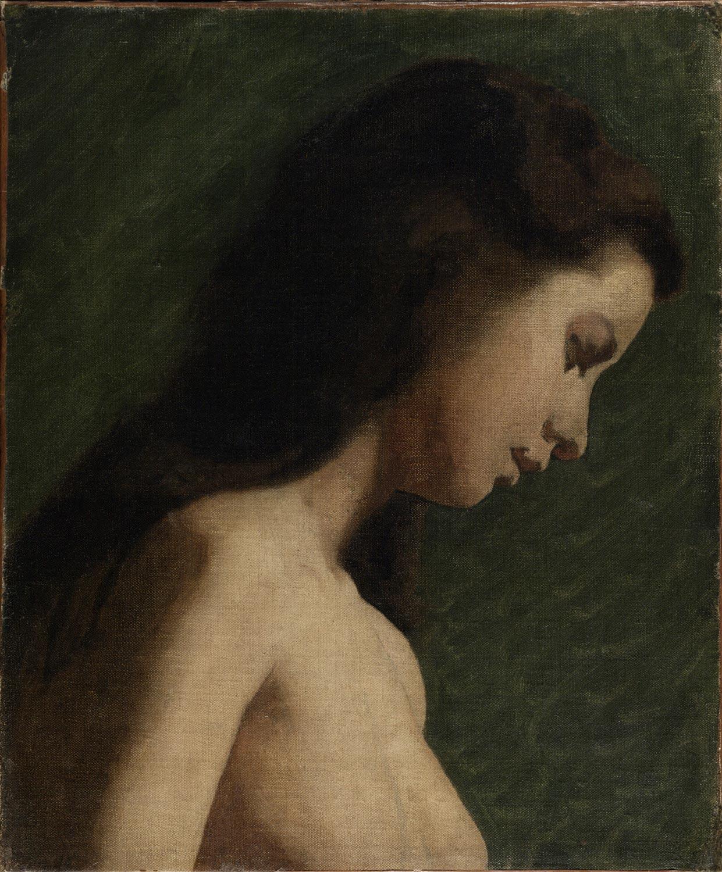 file eakins study of girl s head 1868 jpg wikimedia commons