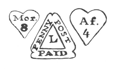 Examples of Dockwra postal markings