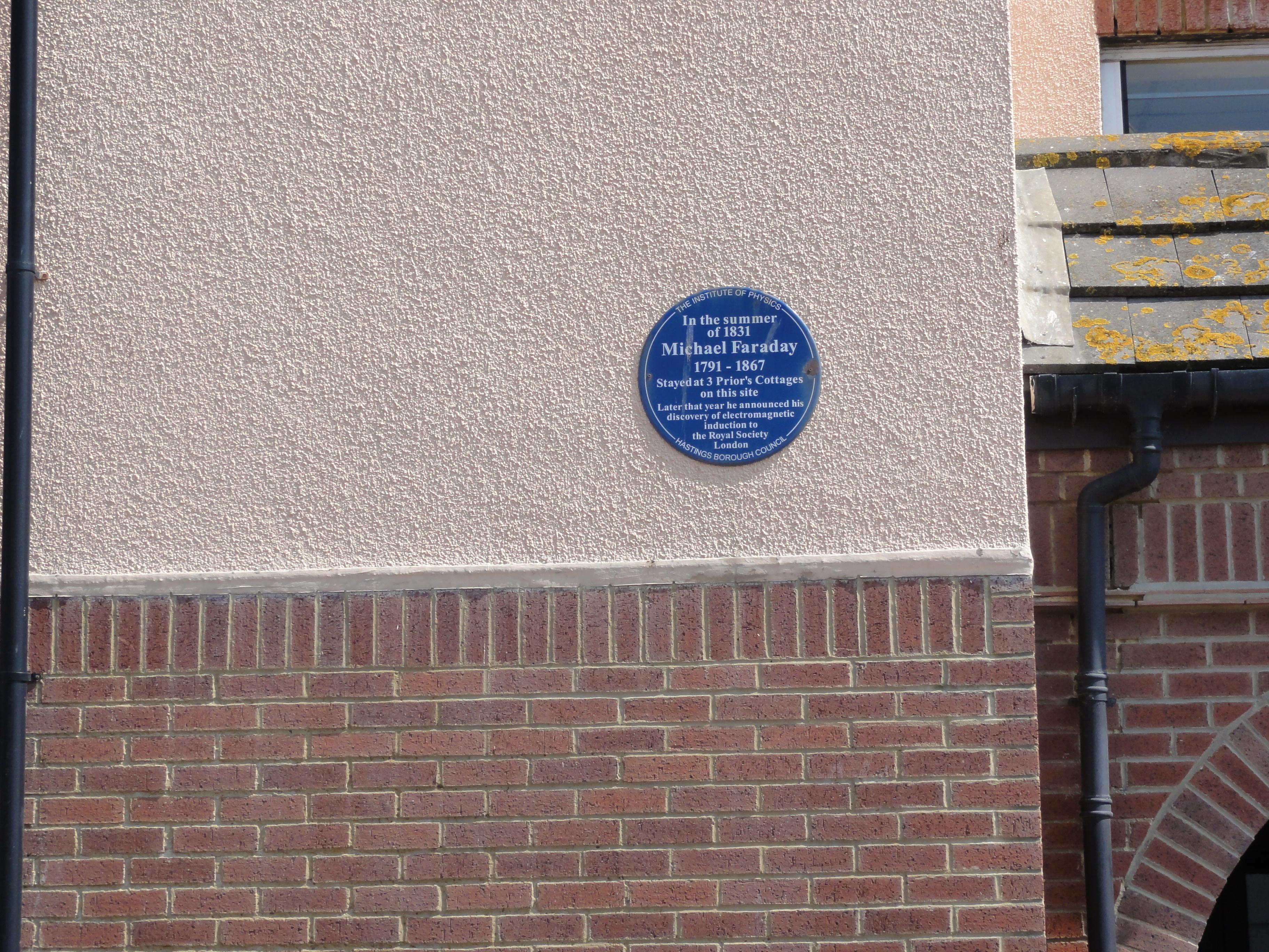 Faraday plaque hastings