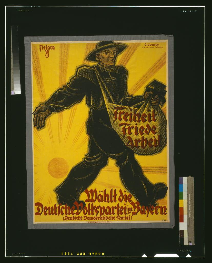 Freiheit, Friede, Arbeit. Wählt die Deutsche Volkspartei in Bayern LCCN2004666120.jpg