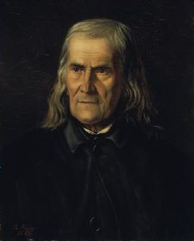 Friedrich Ruckert, as portrayed by Bertha Froriep in 1864 Friedrich Ruckert.jpg