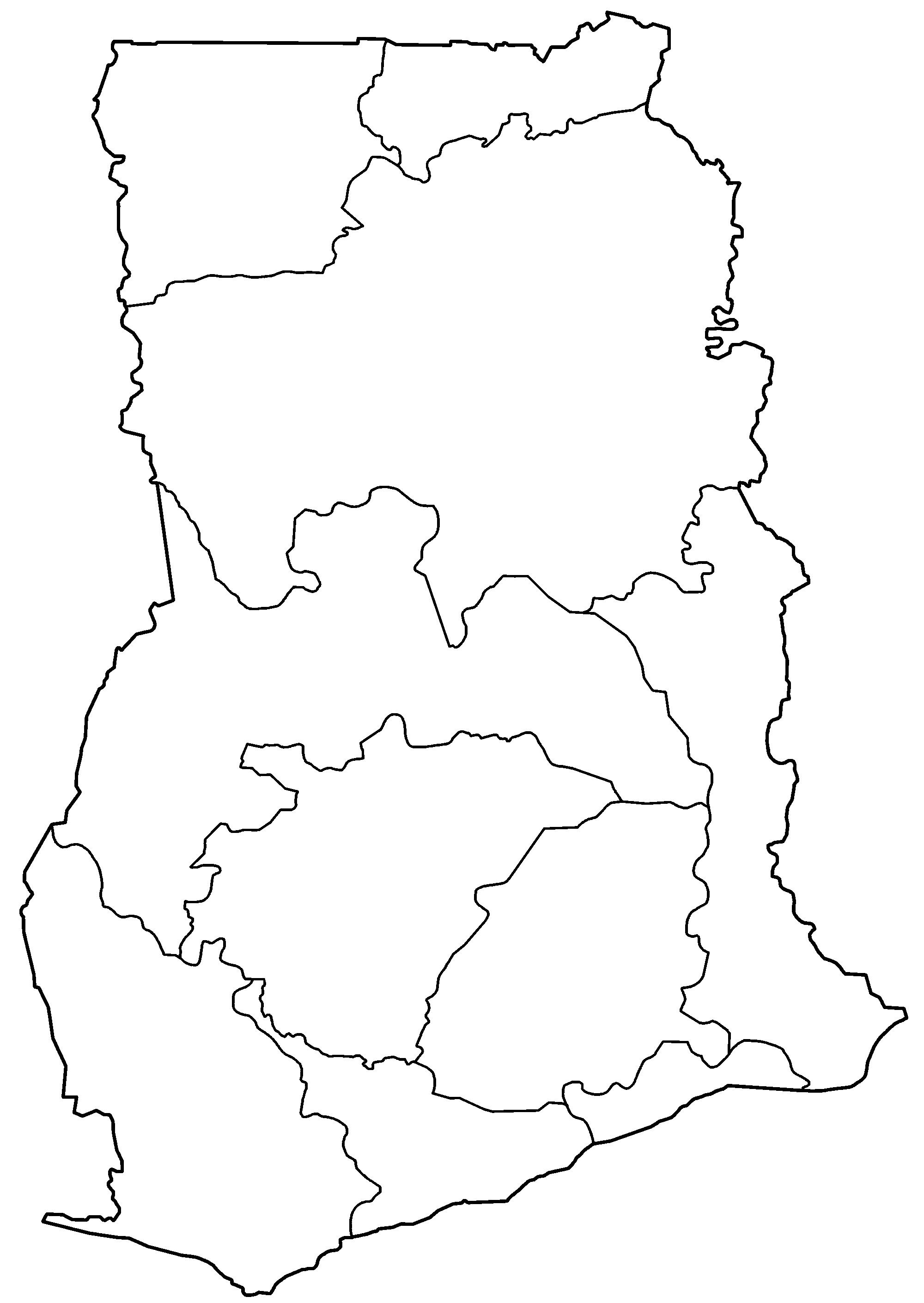 Ghana Map Blank - Ghana map