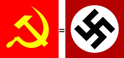 Image result for swastika versus sickle and hammer