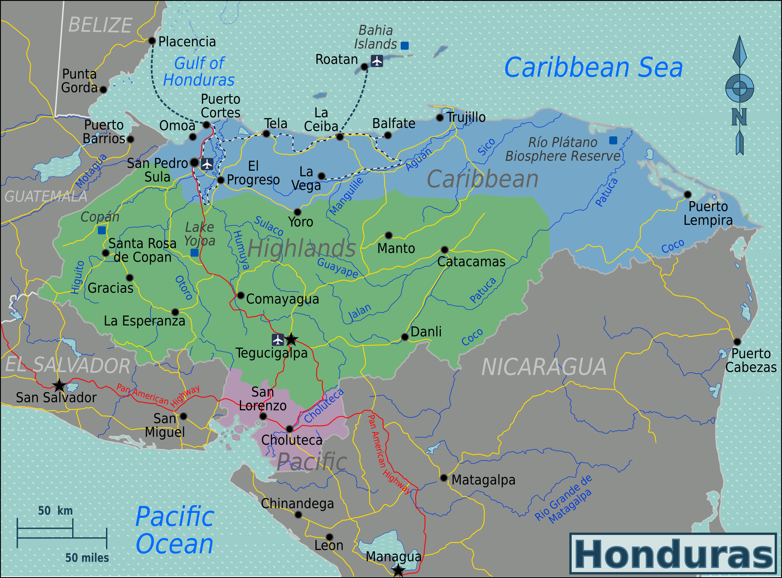 FileHonduras Regions mappng Wikimedia Commons