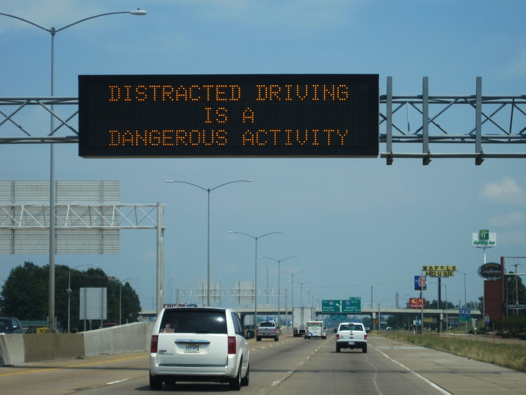 distracted driving warning