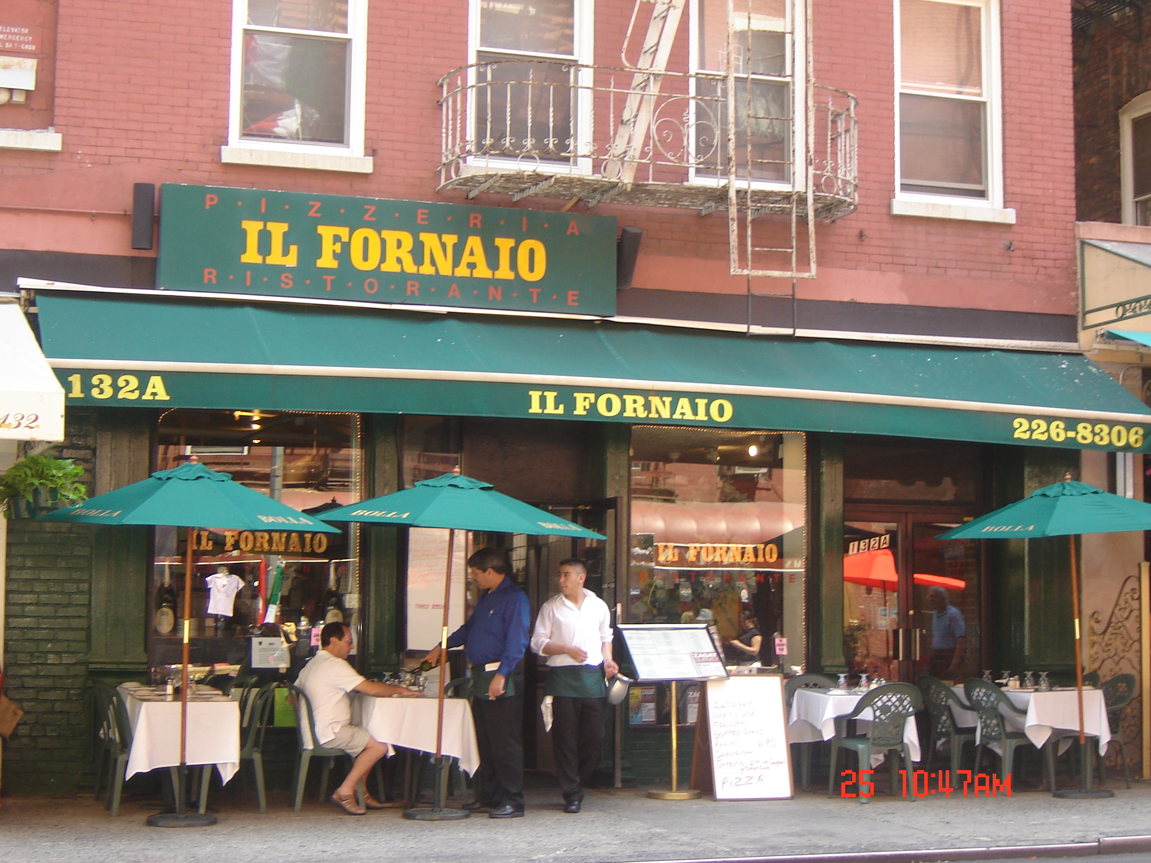 Il Fornaio Restaurant  Chinatown & Little Italy in New York City Il fornaio new york