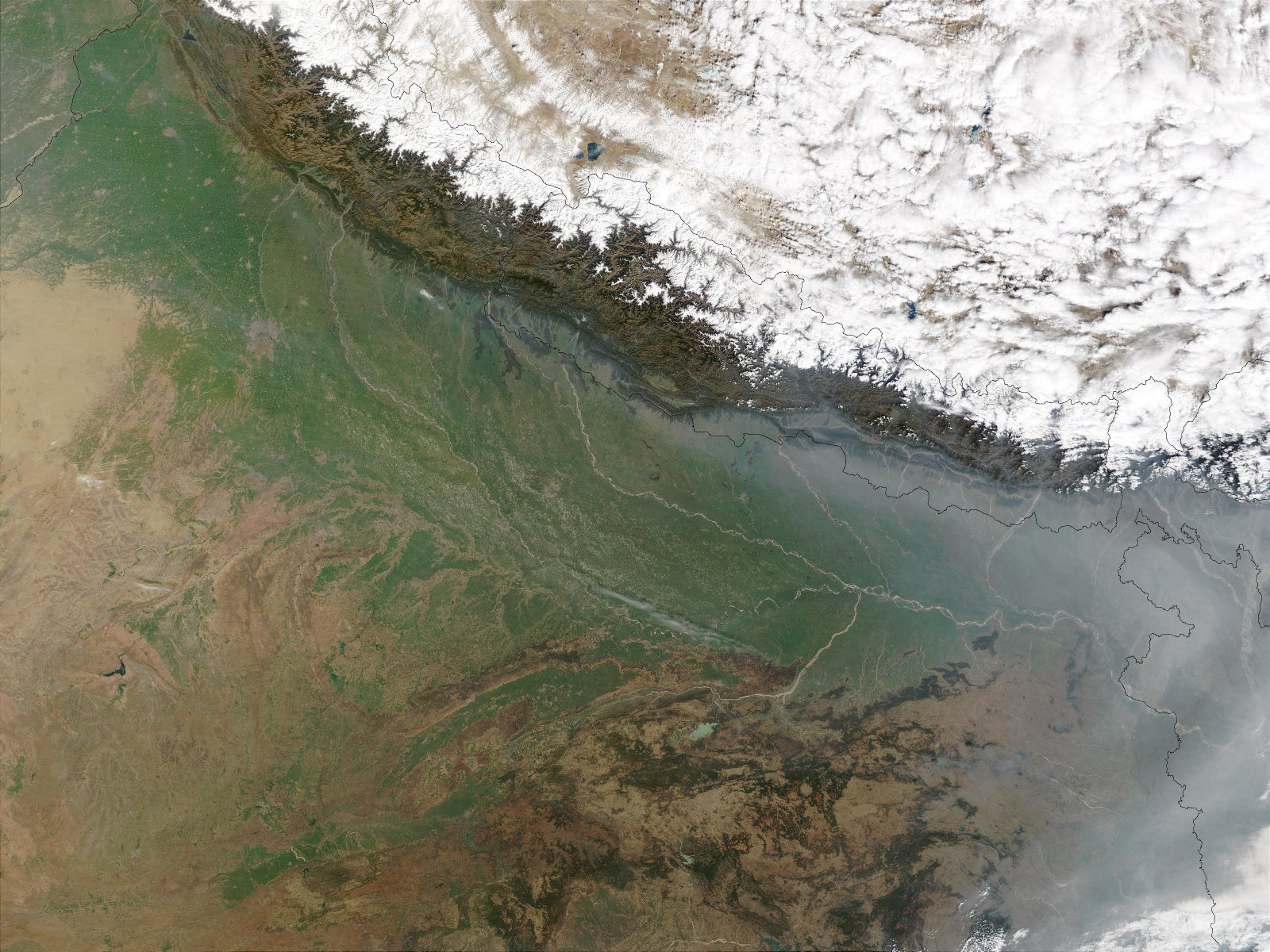 View of a portion of the Indo-Gangetic plain from space