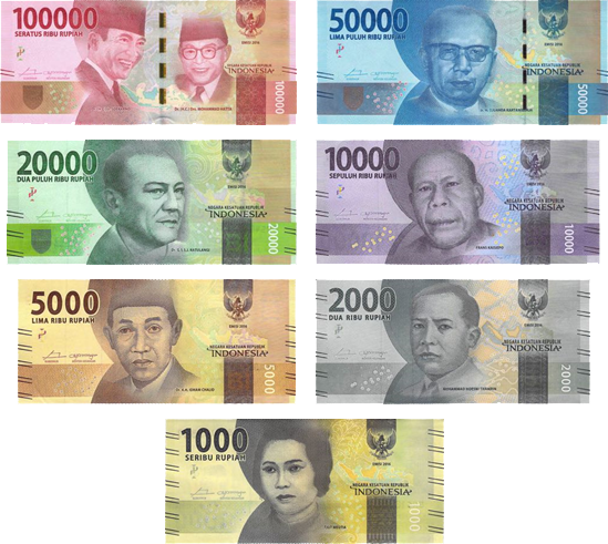 2 Notes Total. Indonesia And Vietnam 100000 Rupiah And Vietnam Dong Banknotes