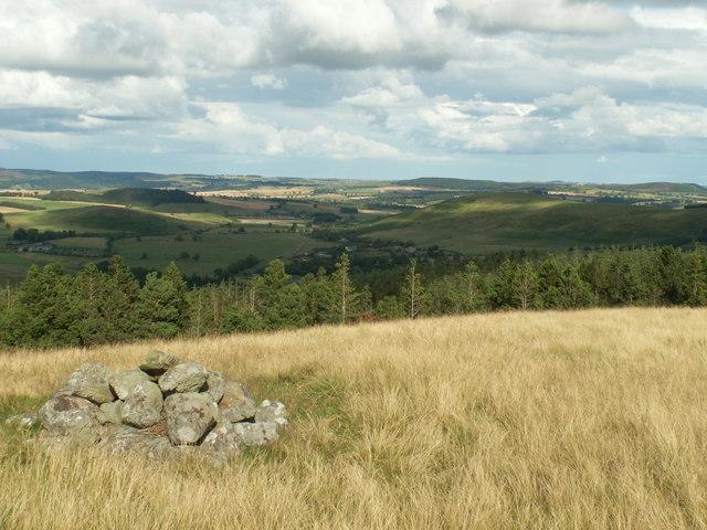 Ingram Valley from cairn near Ewe Hill - geograph.org.uk - 523940