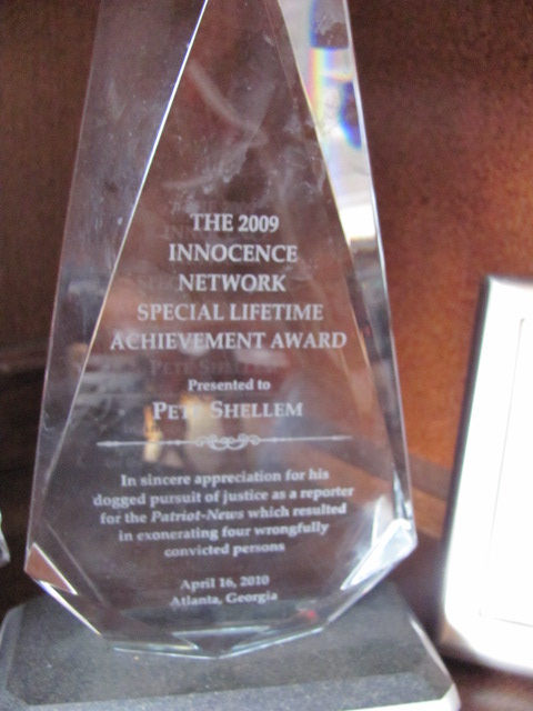 English: Awarded to Pete Shellem for his Inves...