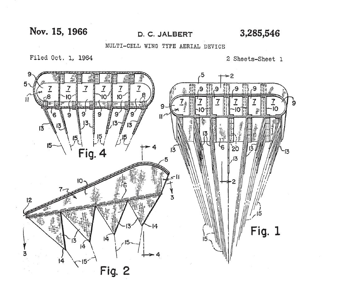 D. C. JABERT MULTI-CELL WING AERIAL DEVICE