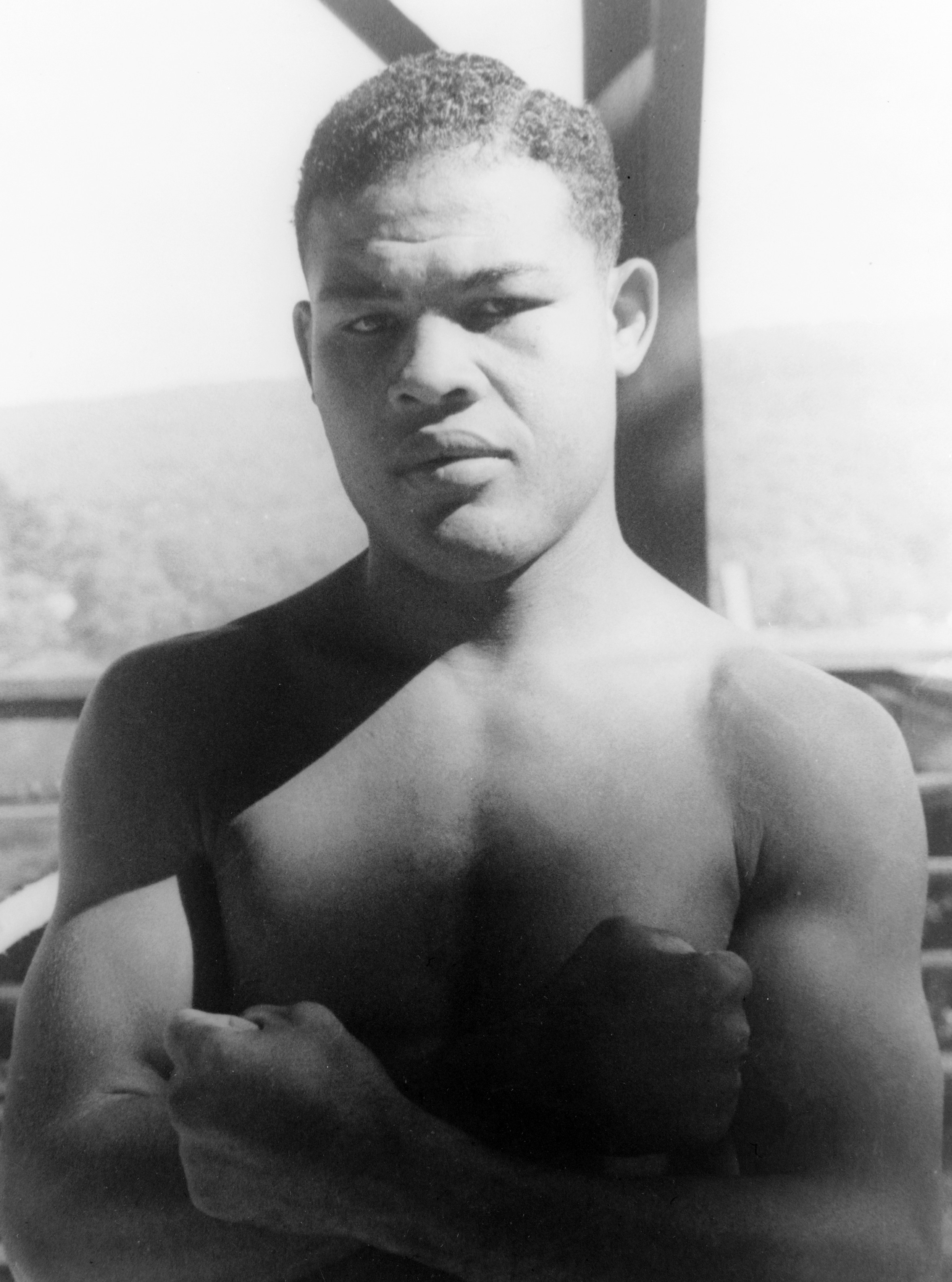 Portrait of boxer Joe Louis