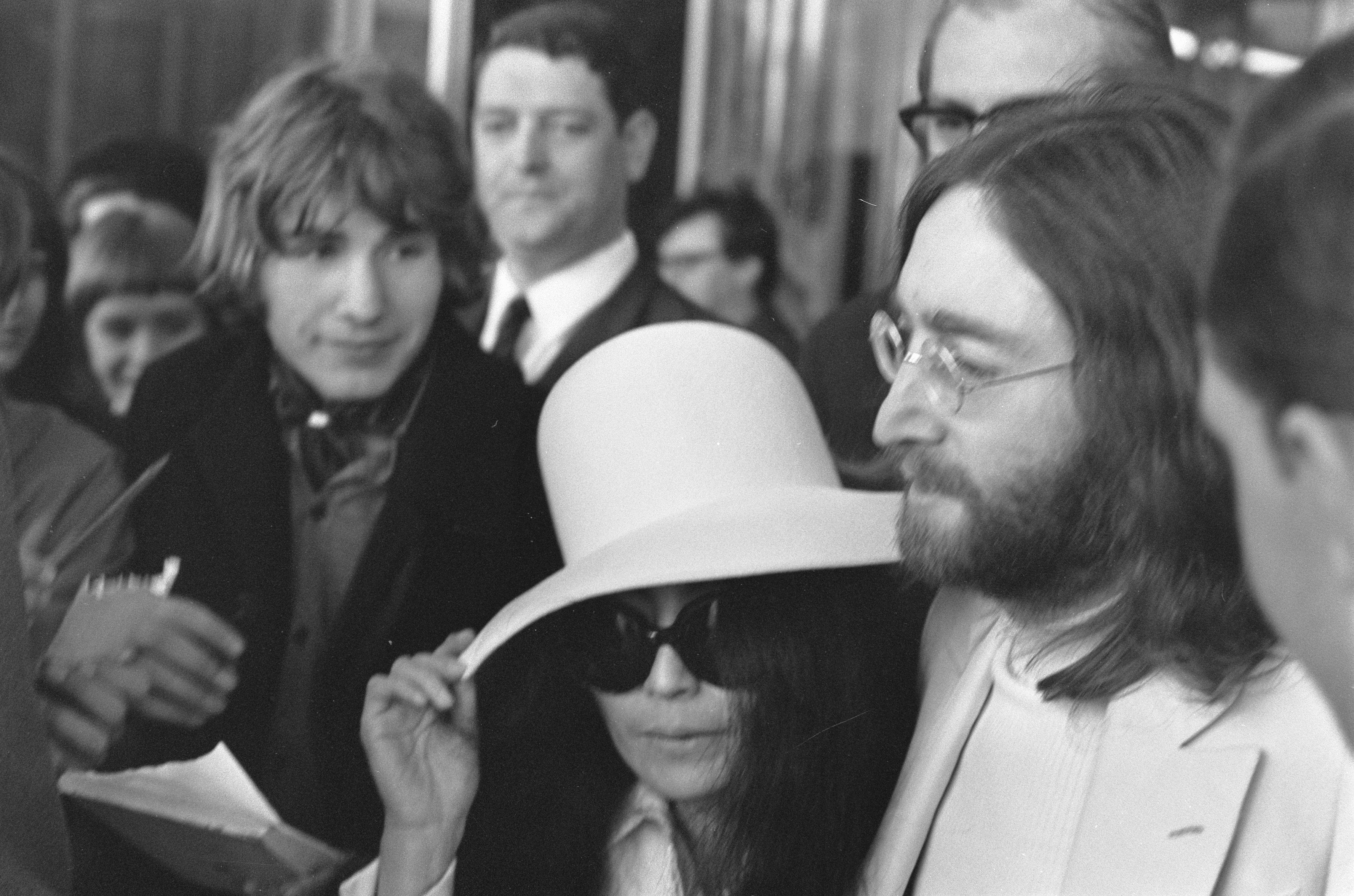 Lennon y Ono en 1969.