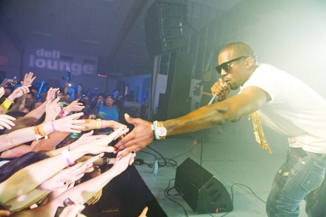 Kanye West performing at South by Southwest on March 21, 2009 in Austin, Texas.