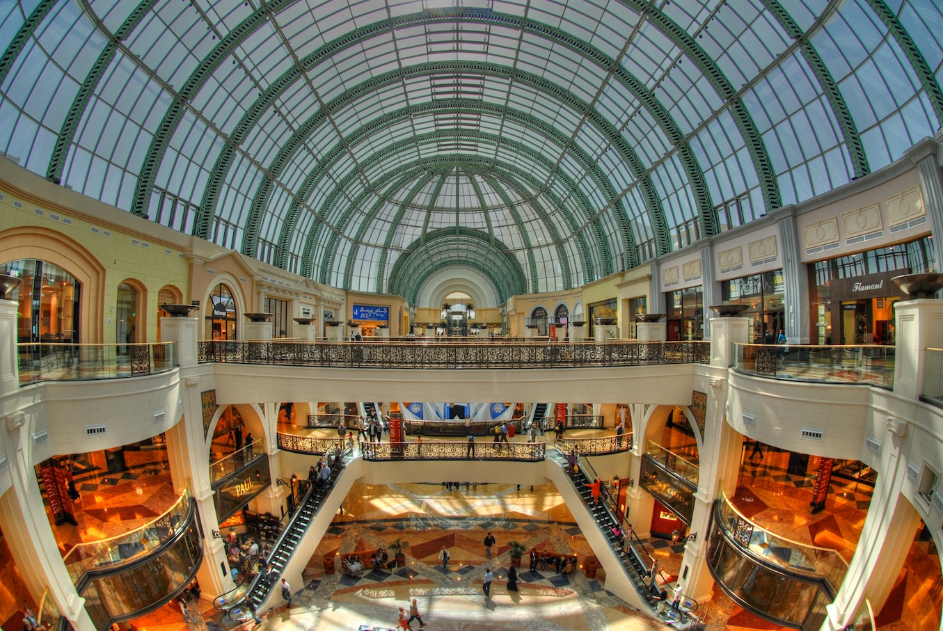 Floors of the Mall of the Emirates