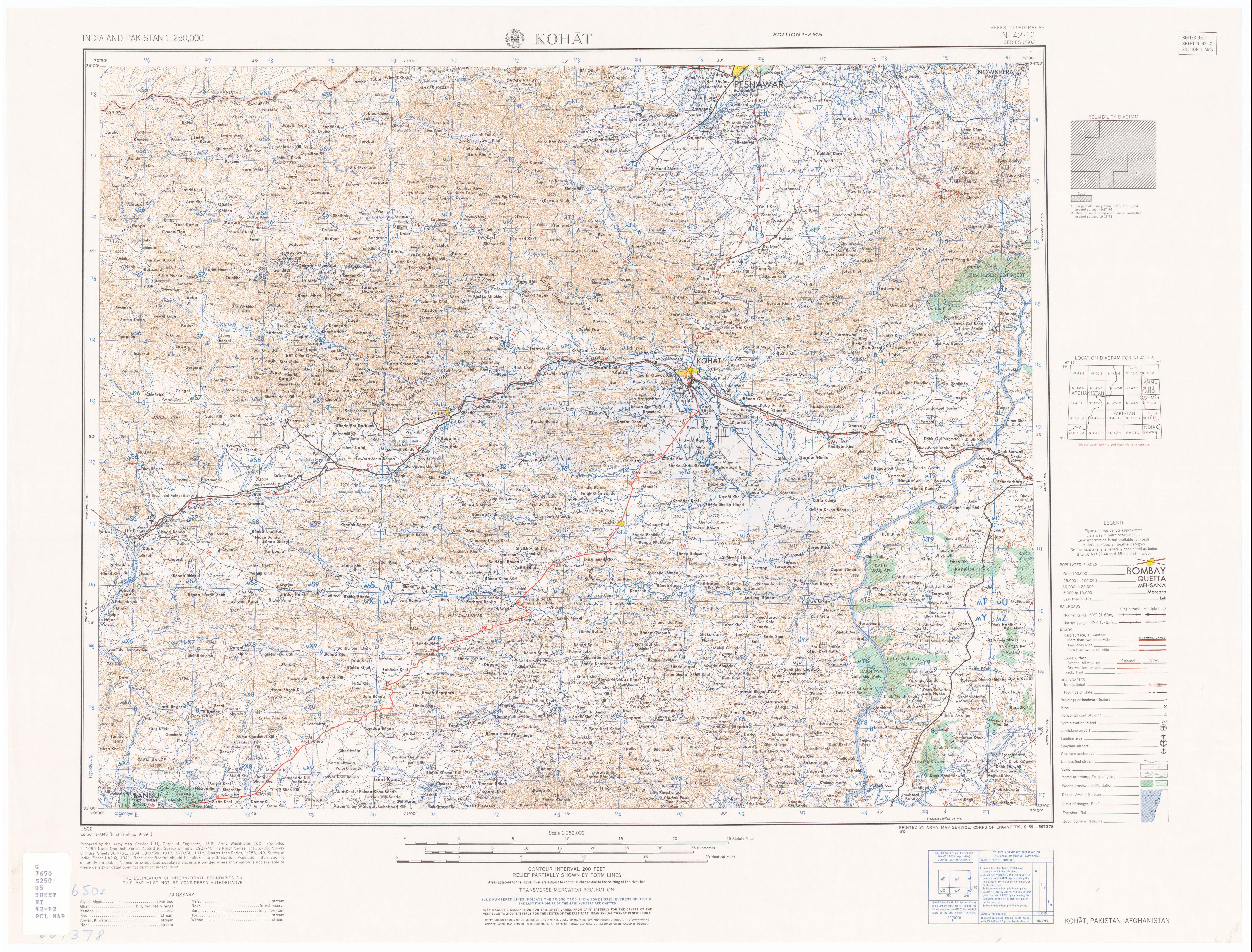 FileMap India And Pakistan Tile NI Kohatjpg - Kohat map