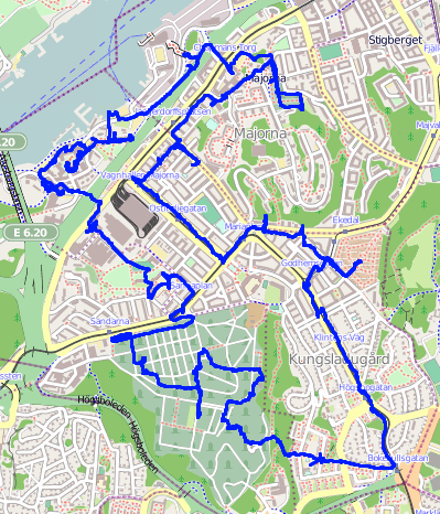 västra centrum göteborg karta File:Map of photo safari Göteb2012 07 01.png   Wikimedia Commons västra centrum göteborg karta
