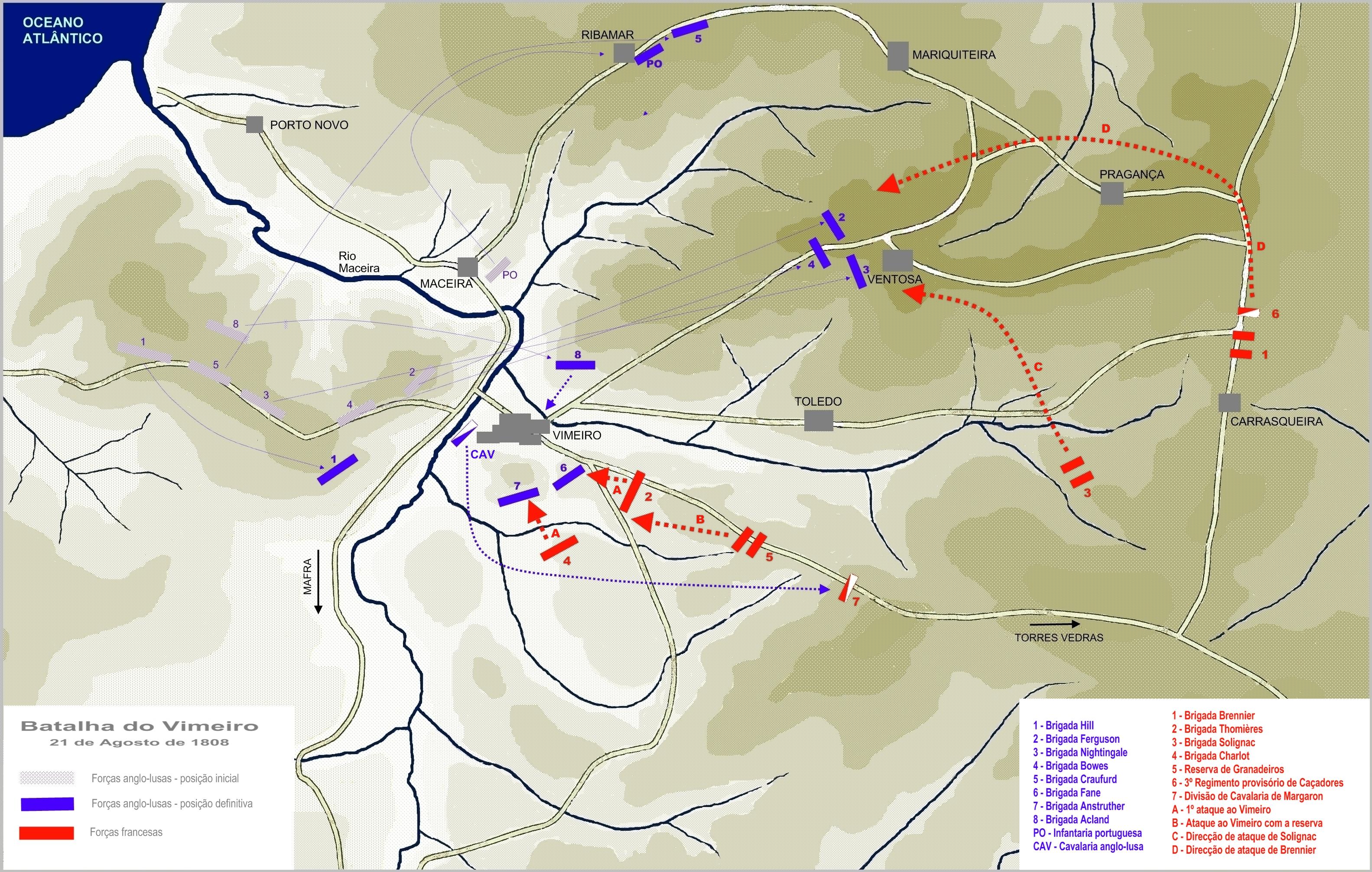 mapa vimeiro Ficheiro:Mapa da batalha do Vimeiro. – Wikipédia, a  mapa vimeiro