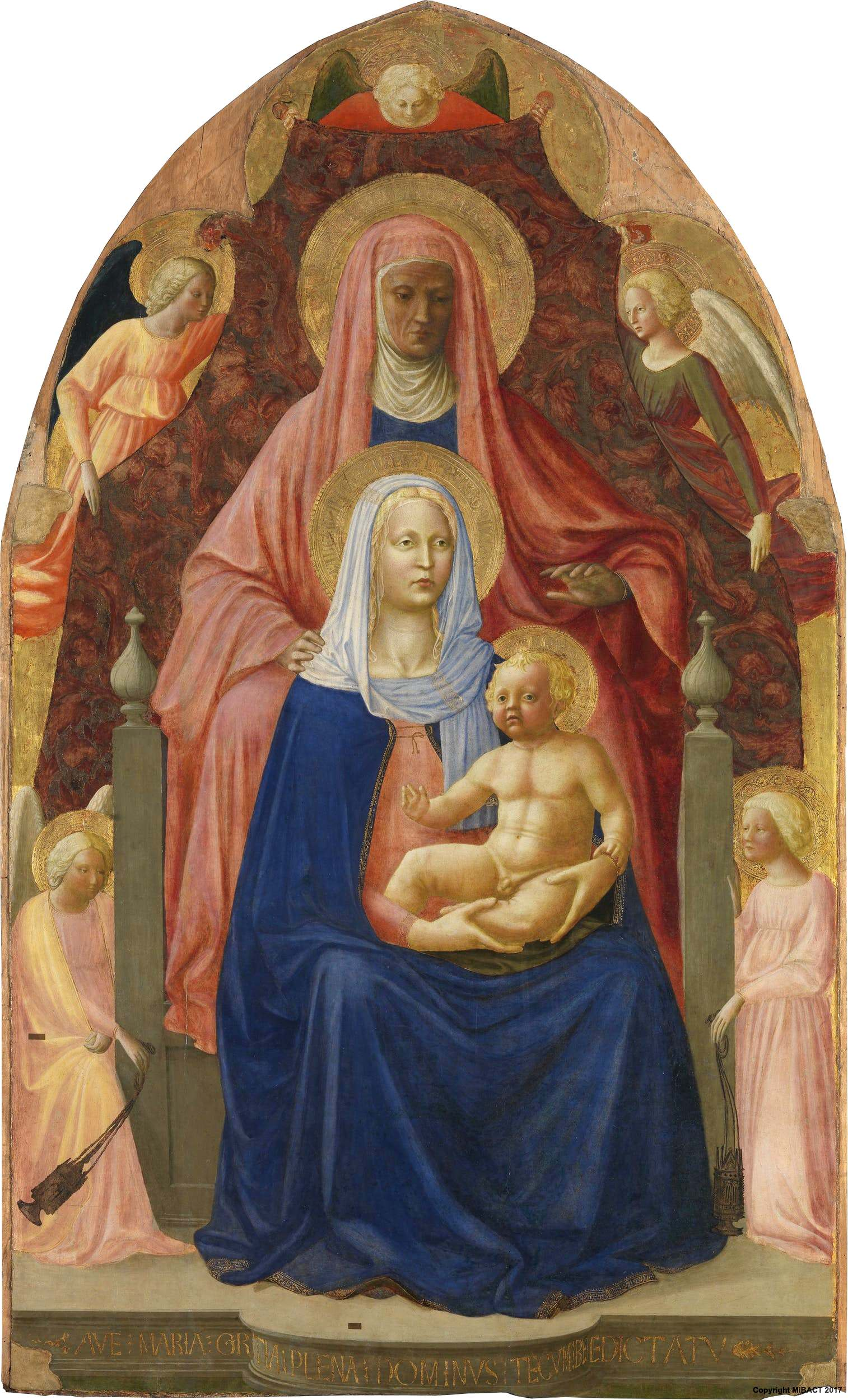Mazačo - Page 2 Masaccio._The_Madonna_and_Child_with_st._Anna._ca._1424._Uffizi,_Florence