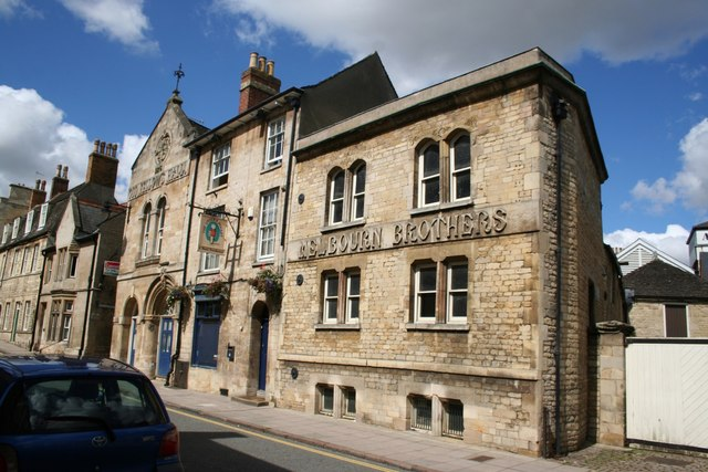Creative Commons image of All Saints Brewery Inn (Melbourne Bros) in Stamford
