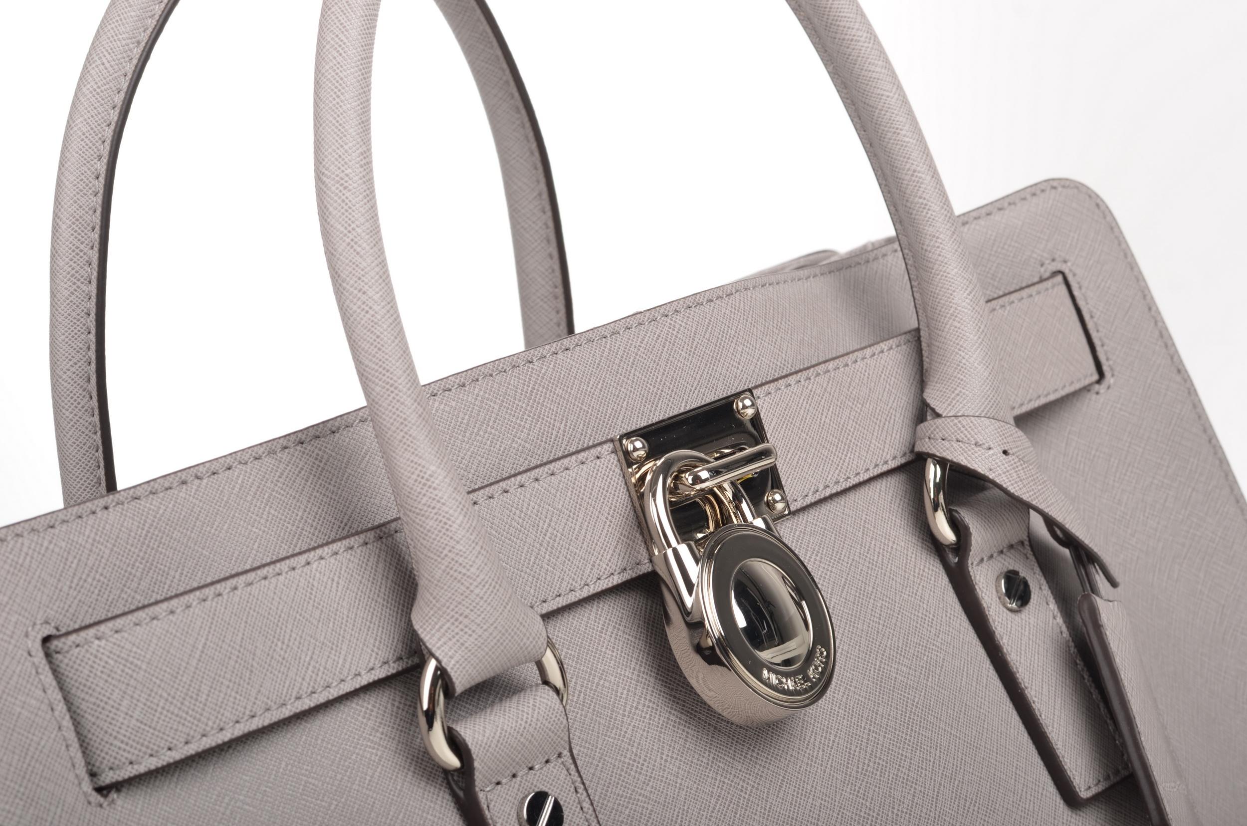 file michael kors hamilton lg ew satchel handtasche 30f4shms7t kalbsleder grau silber pearl. Black Bedroom Furniture Sets. Home Design Ideas