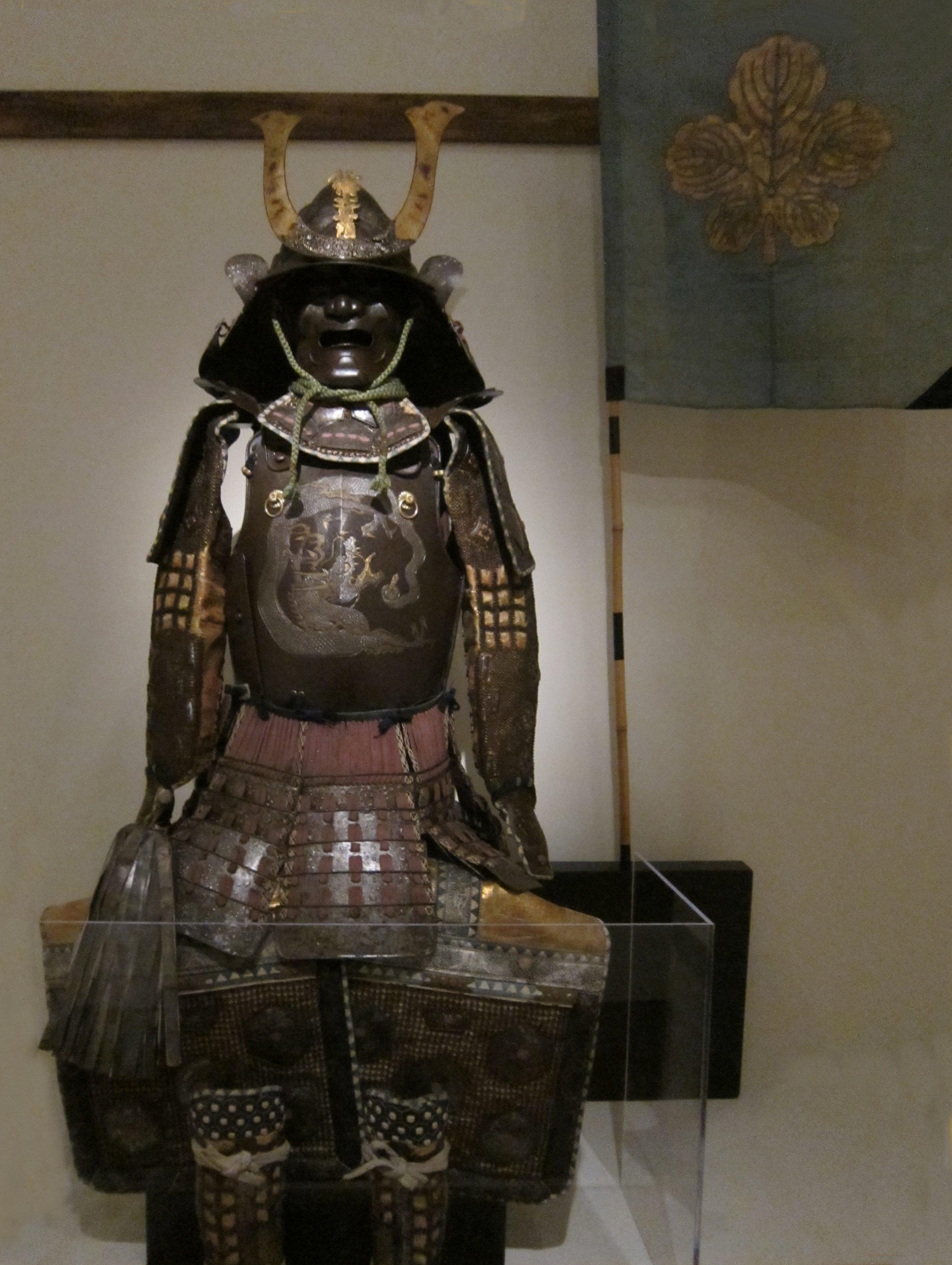 File Nanban Style Tosei Gusoku Armor With Personal Flag