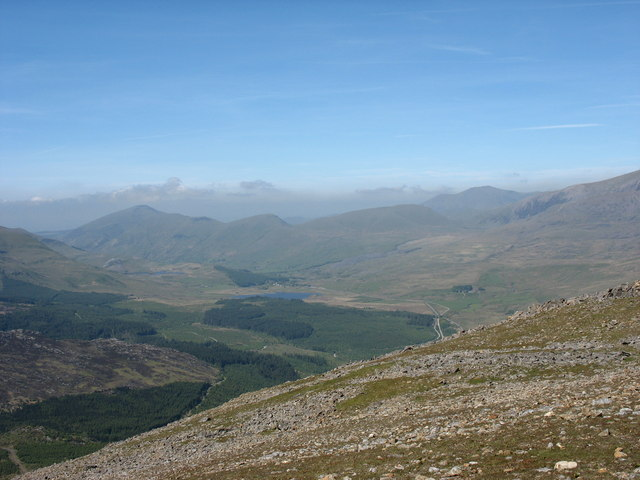 Nant Colwyn from The Upper Slopes of Moel Hebog - geograph.org.uk - 234392