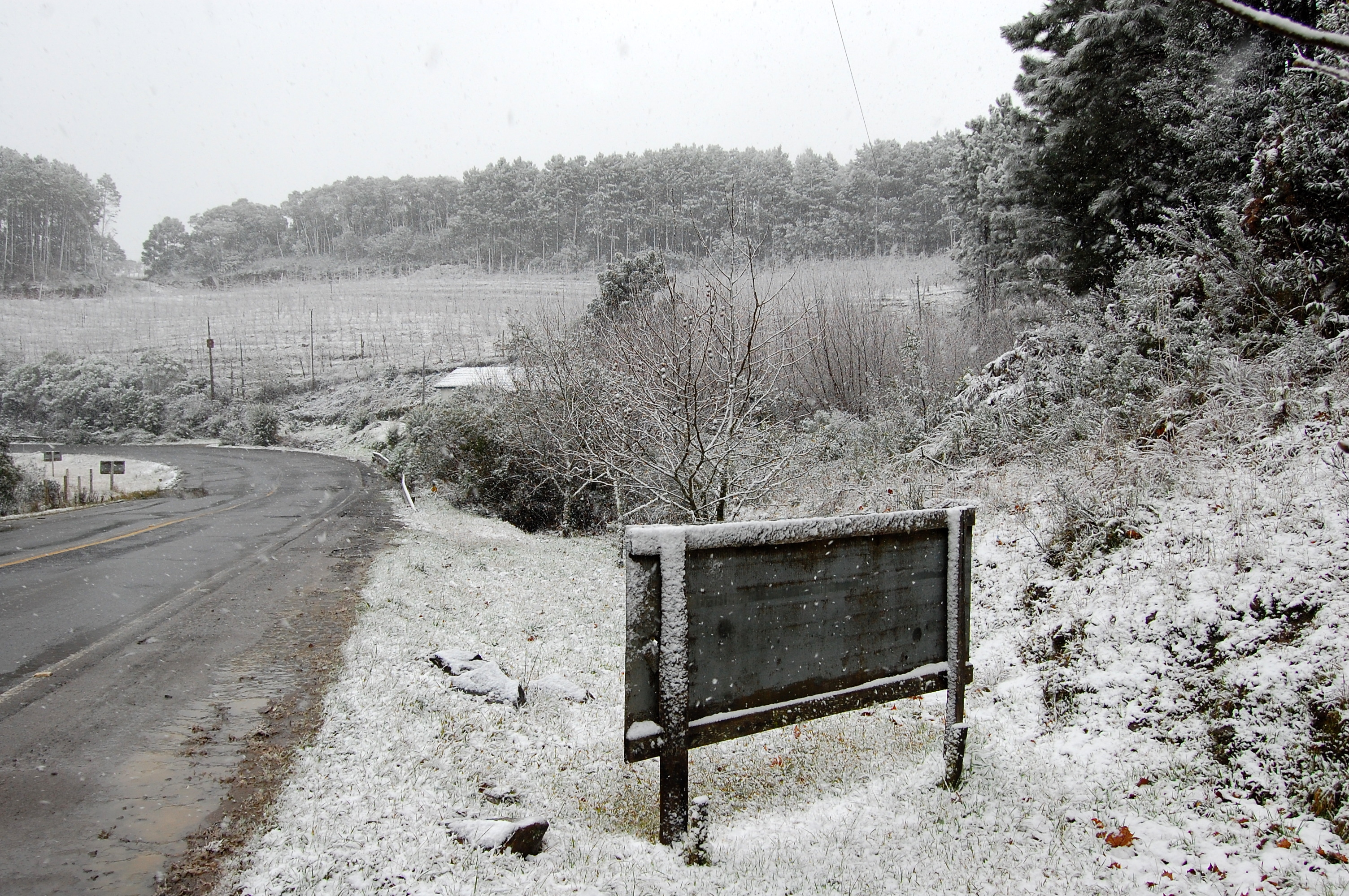 neve em são joaquim, santa catarina - a cidade mais fria do brasil