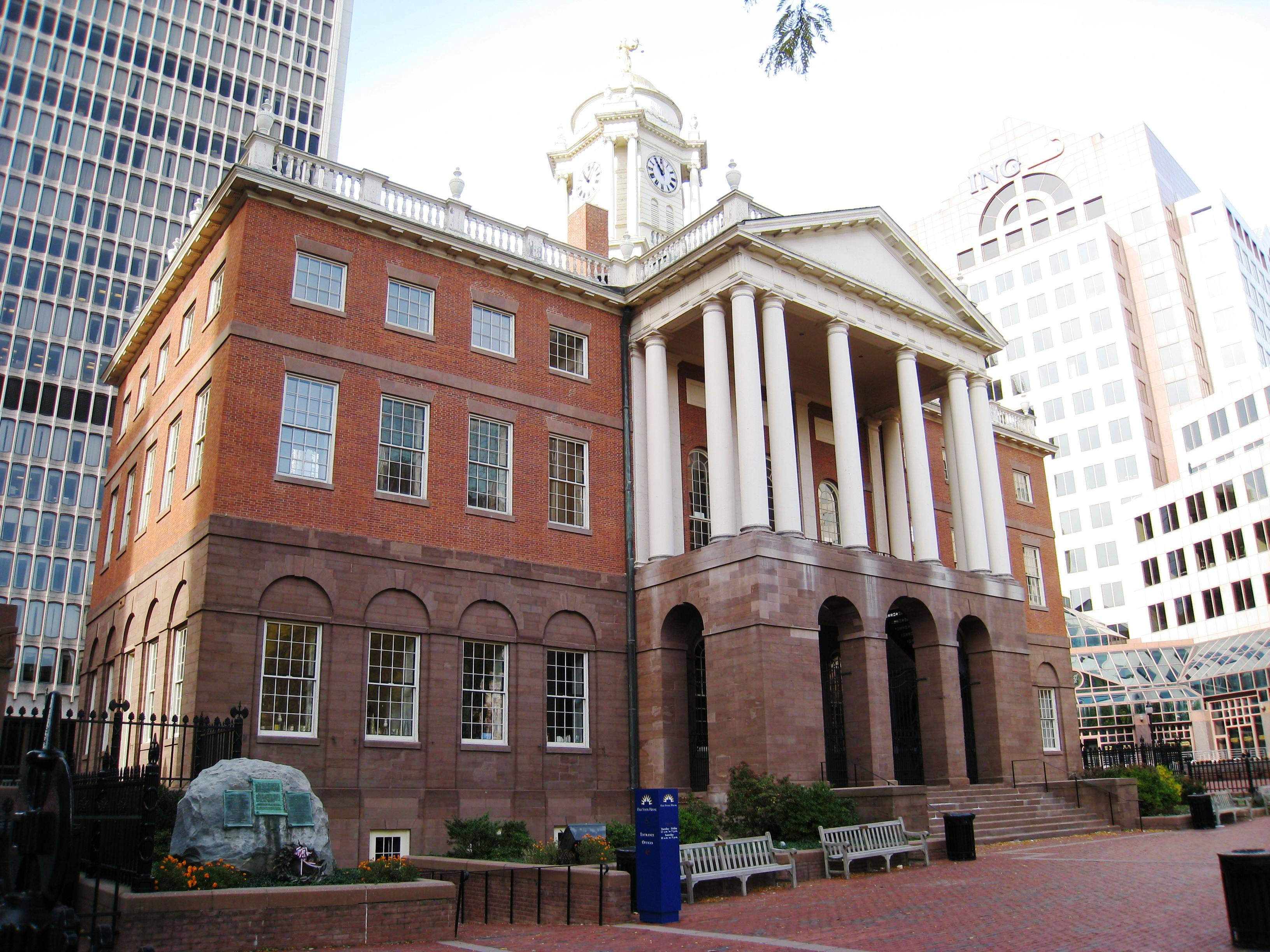 File Old State House Hartford Ct Front Facade Jpg