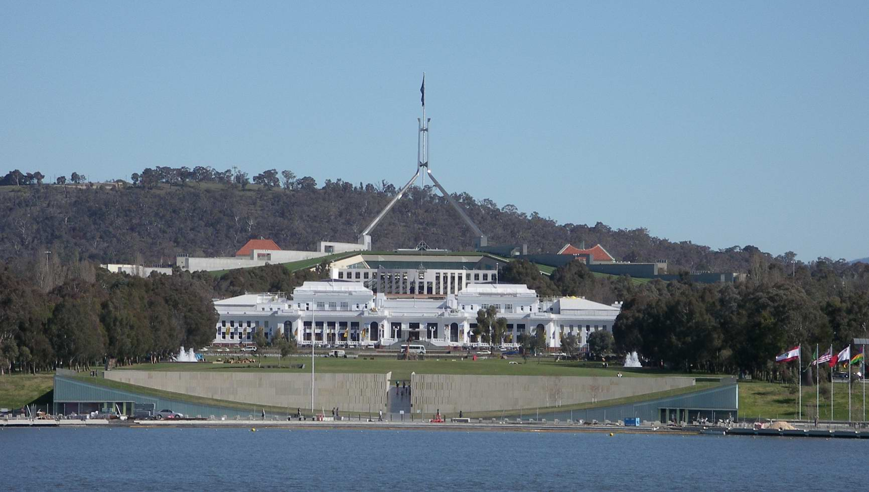 how to draw parliament house canberra