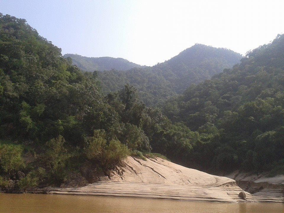 Papikonda National Park and Papikonda Wildlife Sanctuary view from river Godavari
