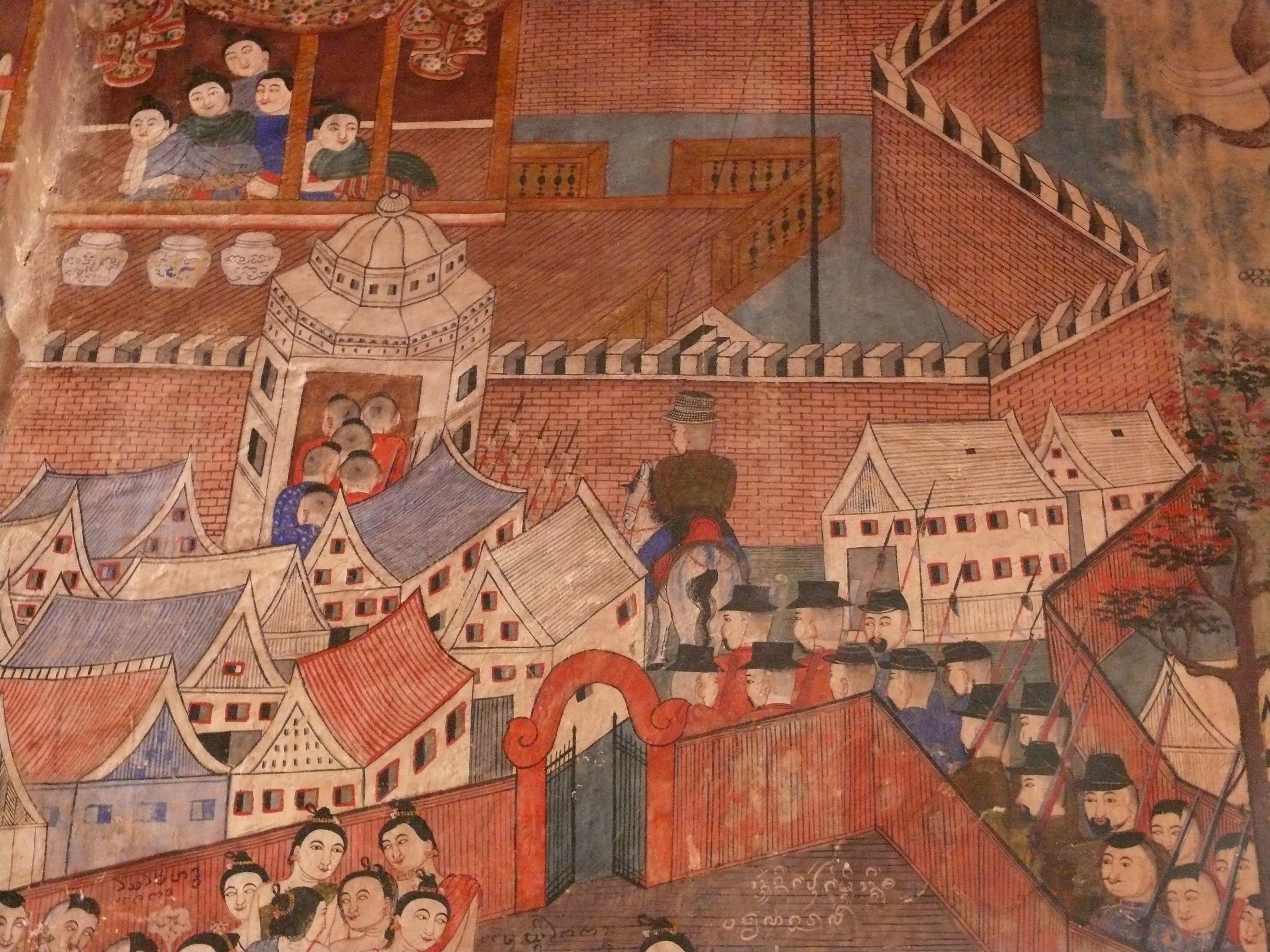 File peinture murale wat phumin nan jpg wikimedia commons for Peinture nacree murale