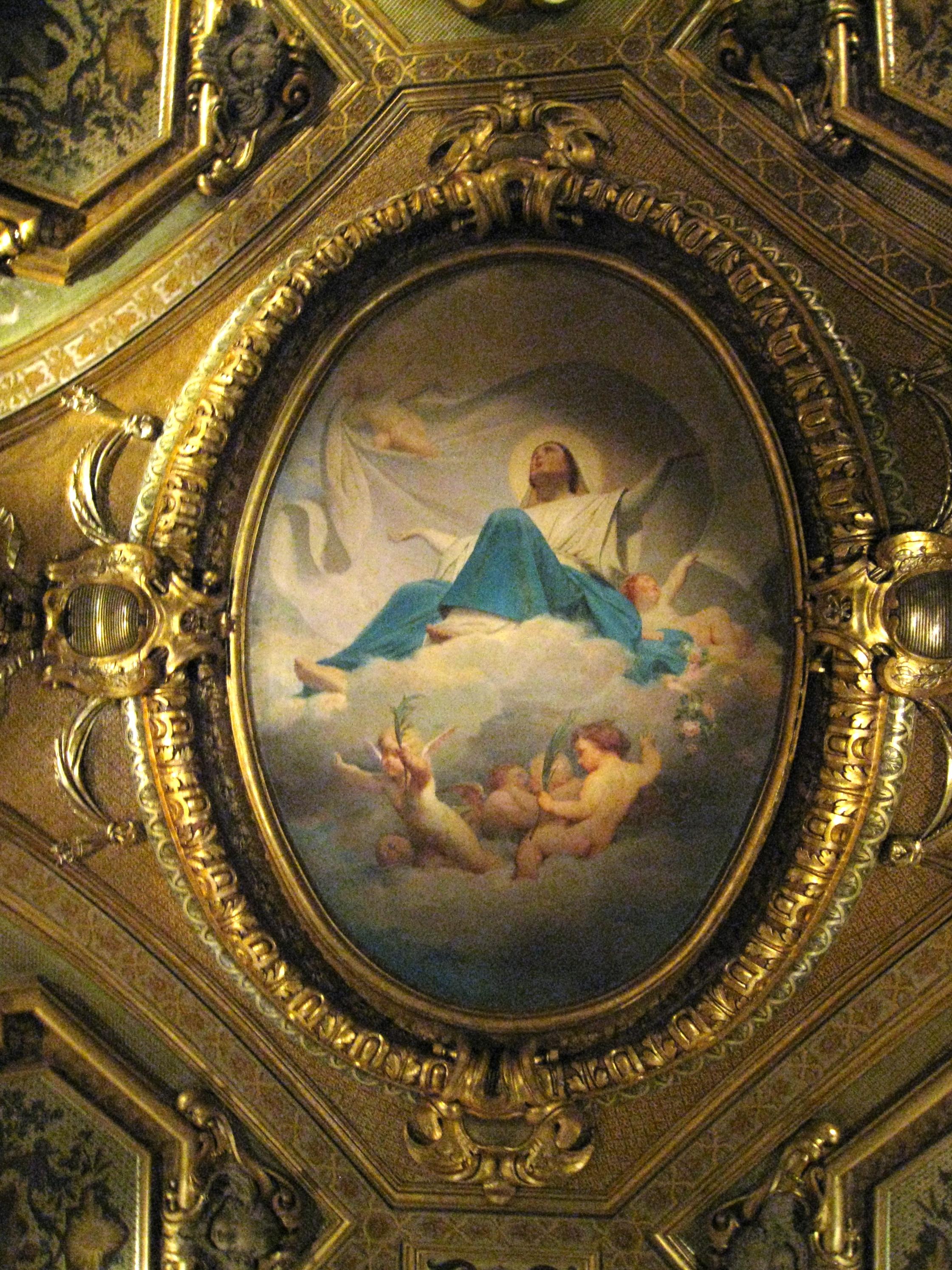 File petit luxembourg plafond wikimedia commons - Plafond de la chapelle sixtine description ...