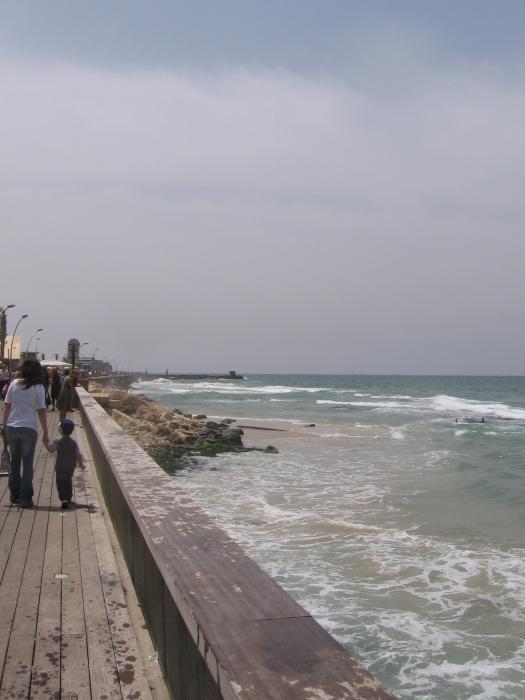 נמל תל אביב בחורף