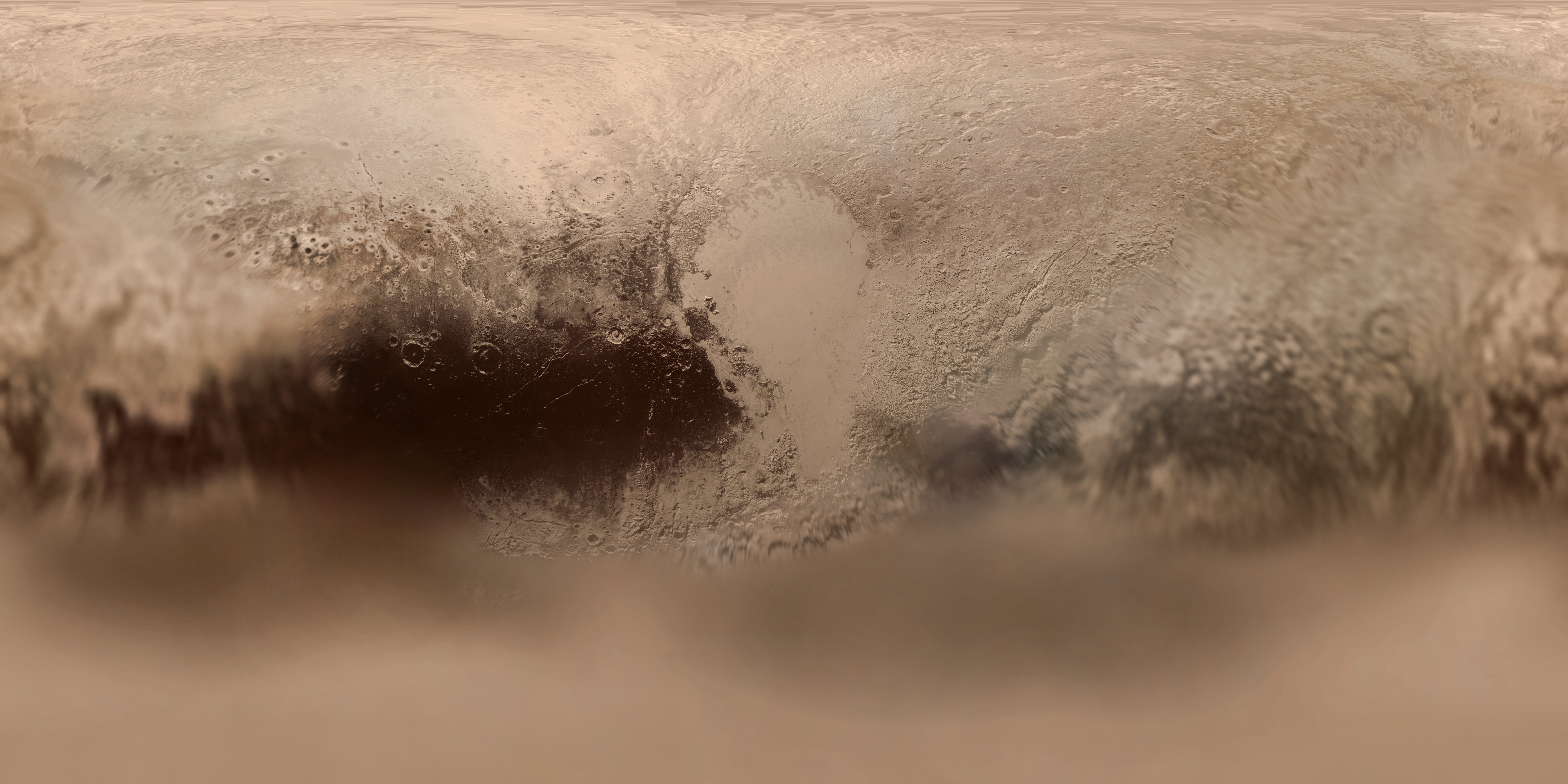 Map Of Pluto S Surface 2003 Space