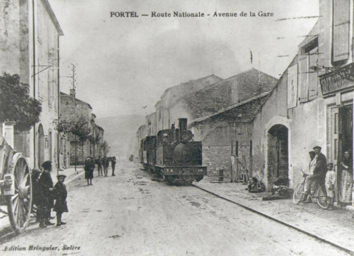 Avenue de la Gare à Portel-des-Corbières